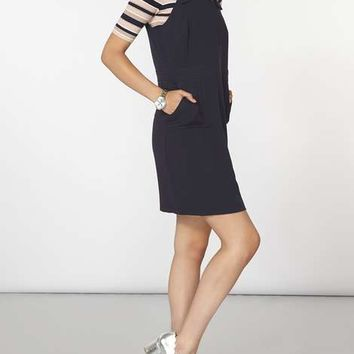 navy buckle pinny dress - View All New In - New In