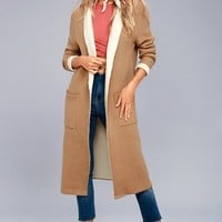 Astrid Beige Long Cardigan Sweater