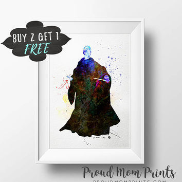 Harry Potter Print, Lord Voldemort Download Art Poster, Harry Potter Wall Art Printable Instant Download, Kids Wall Art, Baby Shower Favors