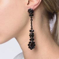 Victorian Drop Earrings in Jet