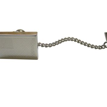 Silver Toned Etched Samoa Flag Tie Tack