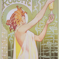 Absinthe Robette French Ad Art Poster 24x36