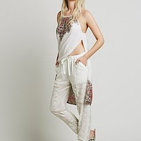 Free People Womens Sheer Embroidered Jogger