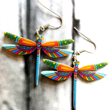 Liitle girl earrings,animal earrings,dragonfly,dangle earrings,gift for teen girls, little girl earring ,funky,cute,funny,kawaii,tinny,small