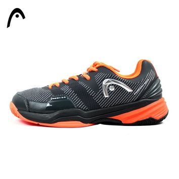 HEAD Man's Tennis Shoes Orange Mesh PU Shock-Absorbant Light Weight Professional Tennis Sneakers For Man Zapatillas Para Tenis