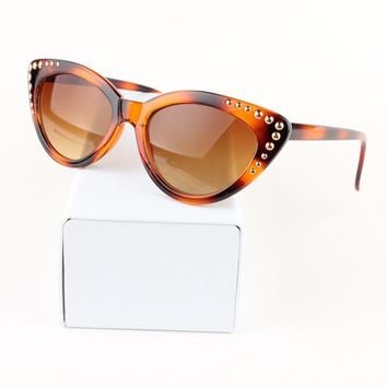 JackJad 2018 Fashion Women Gradient Cat Eye Sunglasses Vintage Classic Amber Leopard Frame Sun Glasses Oculos De Sol Feminino