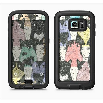 The Vintage Cat portrait Full Body Samsung Galaxy S6 LifeProof Fre Case Skin Kit