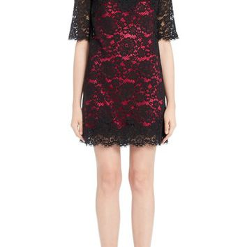 Dolce&Gabbana Lace Dress with Pink Lining | Nordstrom