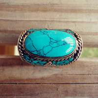 FREE Shipping Robin Blue Turquoise Ring- Precious Stone, Tribal Nepalese.Tibetan Jewelry.Jewellery.Statement Rings.Turquoise stone rings