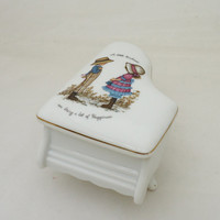 Petticoats and Pantaloons Genuine Porcelain Piano Trinket Box, UK Seller