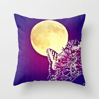 Night Wings Throw Pillow by Art by Mel | Society6