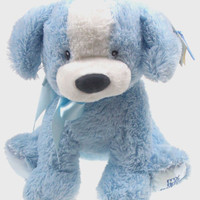 "12"" Gund My First Puppy Medium Blue Baby Plush Stuffed Animal Dog Soft Toy NEW"