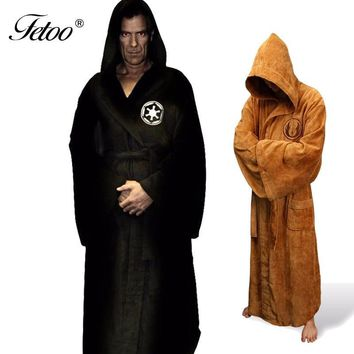 Star Wars Force Episode 1 2 3 4 5 Flannel Robe Male With Hooded  Dressing Gown Jedi Empire Long Thick Men's Bathrobe Nightgowns Mens Bath Robe Winter AT_72_6