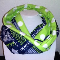 Seattle Seahawks Infinity Scarf - Colorful Cotton Cowl Neck Fashion
