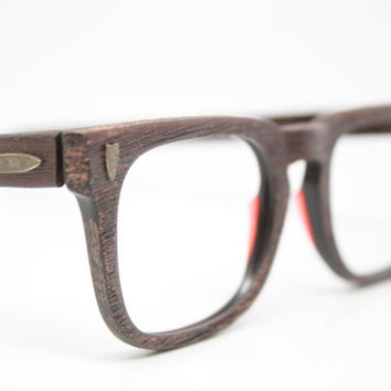 NOS beautiful Redwood vintage men's eyeglasses Arnel Johnny Depp 60's