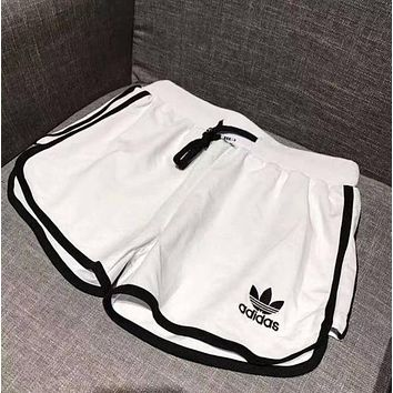 Adidas Women's Tide Brand Casual Style Drawstring Gym Yoga Sports Running Shorts F