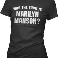 "WOMEN'S ""WHO THE F*CK IS MARILYN MANSON"" TEE BY AESOP ORIGINALS (BLACK)"