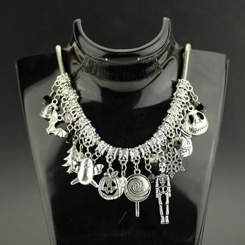 Nightmare Before Christmas -Ornament Choker Necklace