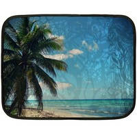 Caribbean Blue Double Sided Fleece Blanket (Mini)