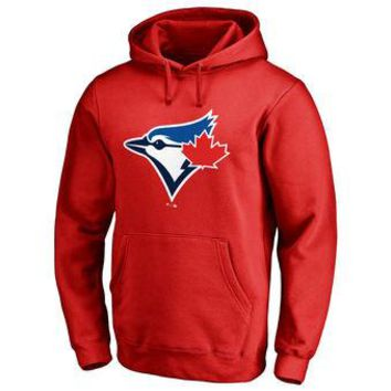 Toronto Blue Jays MLB Red Fastball Fleece Pullover Hoodie