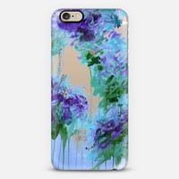 WHISPERED SONG 6 - Icy Winter Blue Purple Green Wedding Floral Bouquet Nature Flowers Bride Bridal Bridesmaid Elegant Chic Transparent Abstract Painting Swirls  iPhone 6 case by Ebi Emporium | Casetify