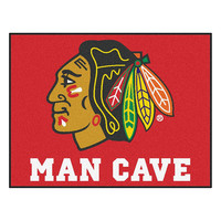 Chicago Blackhawks NHL Man Cave All-Star Floor Mat (34in x 45in)