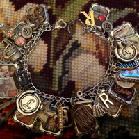 Disney's Enchanted Look and Find Book  Altered Art Charrm Bracelet