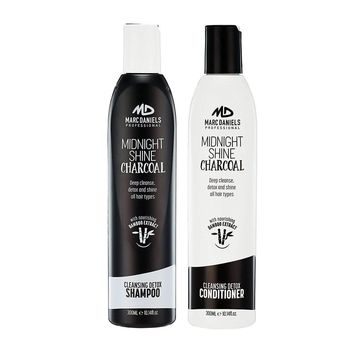 Charcoal Clarifying Shampoo & Conditioner Sulfate Free, Bamboo Extract