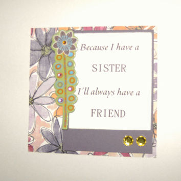 Magnet Sister Quote Fridge File Cabinet Handmade