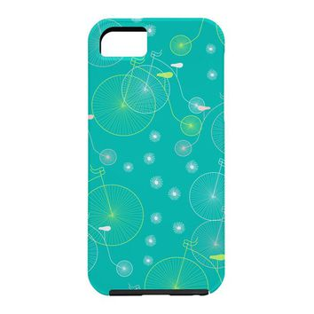 Joy Laforme Ride My Bicycle In Turquoise Cell Phone Case