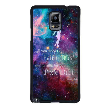 tinkerbell flying galaxy quote samsung galaxy note 4 note 3 cover cases