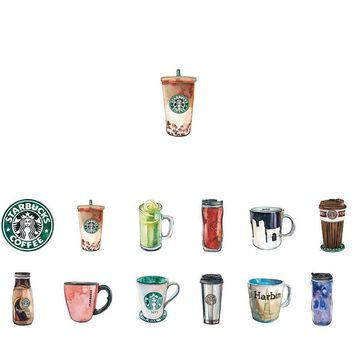 Coffee Adhesive Stickers