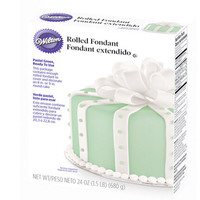 Rolled Fondant - Green: 24-Ounce Package