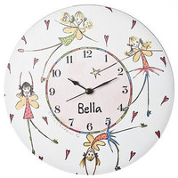 personalised fairy clock by animurals | notonthehighstreet.com