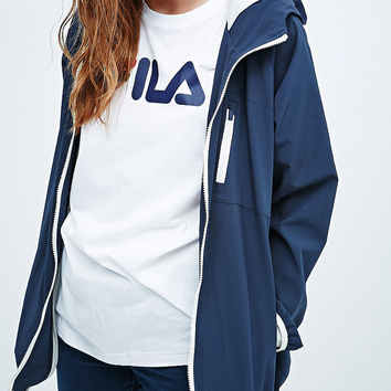 Fila Hooded Windbreaker in Navy - Urban Outfitters