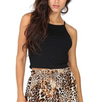 Black Halter Crop Top at Blush Boutique Miami - ShopBlush.com