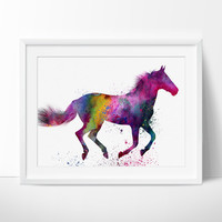 Horse Art Watercolor Painting, Horse painting, Watercolor Painting, Watercolor Horse Print, Wall decor, Wall Art, Fine Art Print, horse - 42