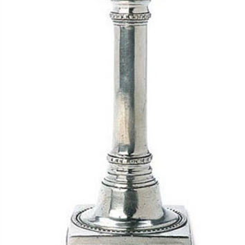 Match Pewter Square Based Candlestick