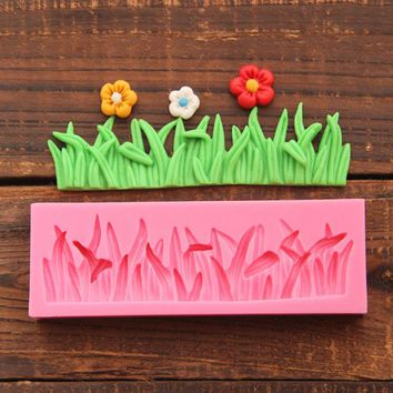 DIY 3D Grass Silicone Mold For Cake Decorating Bakery Tools Silicone Forms For Fondant Decoration Bakeware Free Shipping 1551