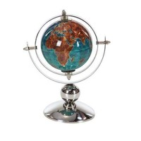 "Reno World Globe For Home Office Decor 6""W, 9""H"