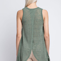 Army Green Unbalanced Tank