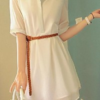 pure Chiffon dress-white from shoponline4