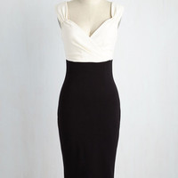 Lady Love Song Dress in Ivory & Noir | Mod Retro Vintage Dresses | ModCloth.com