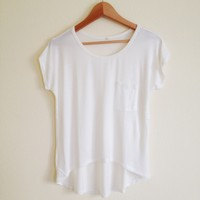 Basic White Pocket Tee