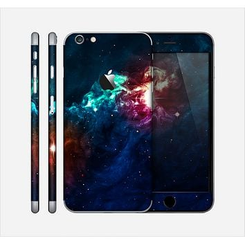 The Glowing Colorful Space Scene Skin for the Apple iPhone 6 Plus