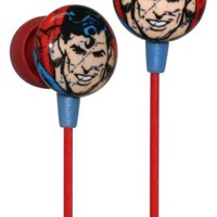 iHip Classic Superman Logo Hi-Fi Noise Reducing Ear Buds (Earphones)