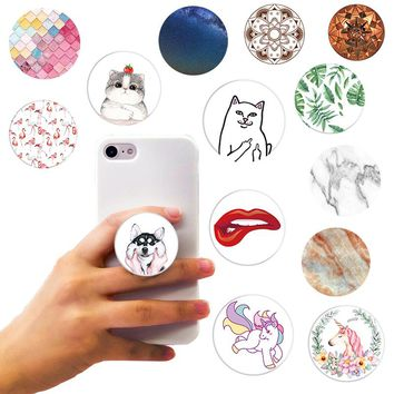 Beautiful Finger Round Holder for Smartphones and Tablets Flexible Mobile Phone Holder for iPhone 8 X 7Plus huawei xiaomi