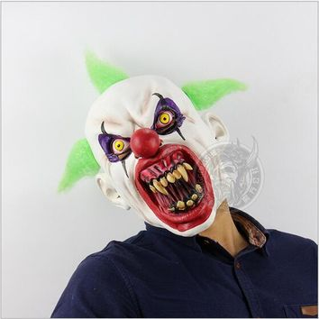 New Halloween Easter Terror Mask Ashanglife Evil Circus Clown Mask Pennywise Halloween Horror Party Fancy Dress Costume Props