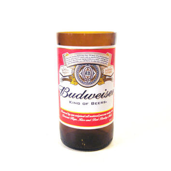 Drinking Glass made from a Budweiser Beer Bottle