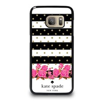 KATE SPADE NEW YORK FLORAL POLKADOTS Samsung Galaxy S7 Case Cover